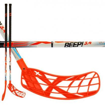 Florbalová hokejka Exel BEEP! 3.4 White 101cm