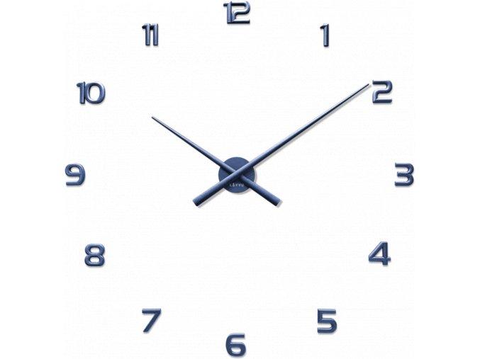 Modré nalepovací hodiny LAVVU 3D STICKER Blue Numerals