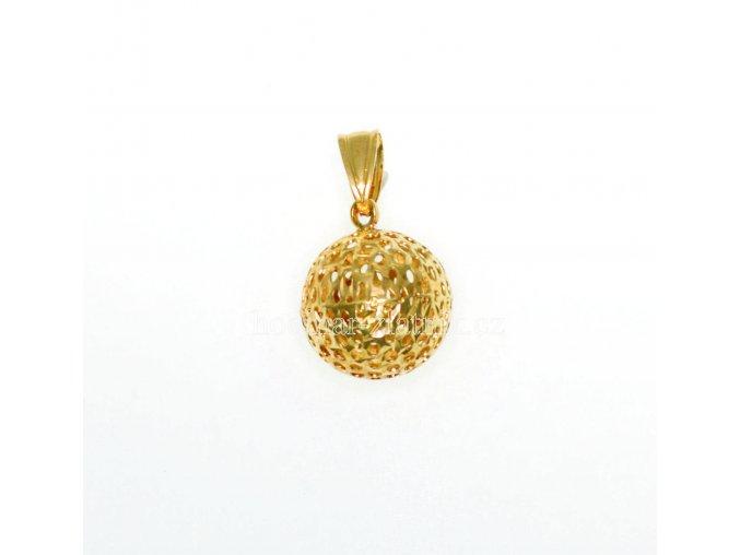 zlatý přívěšek koule