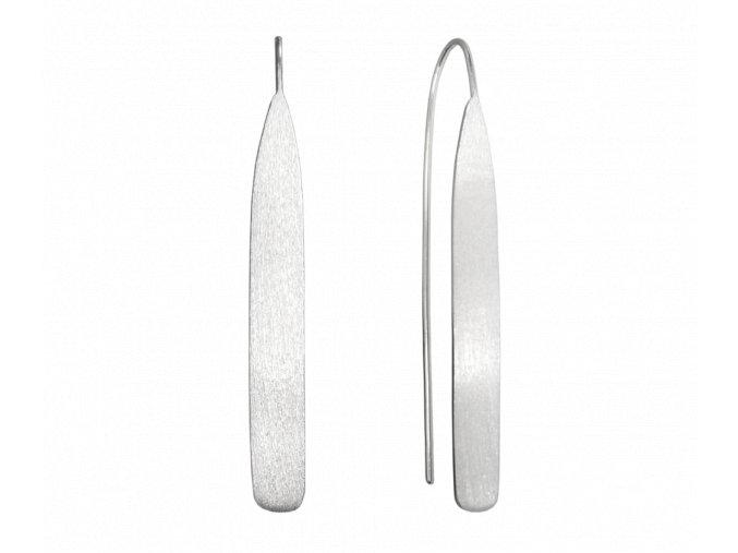 Matné stříbrné náušnice MINET