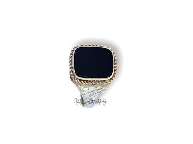 pánský pečetní prsten s onyxem 22513416082