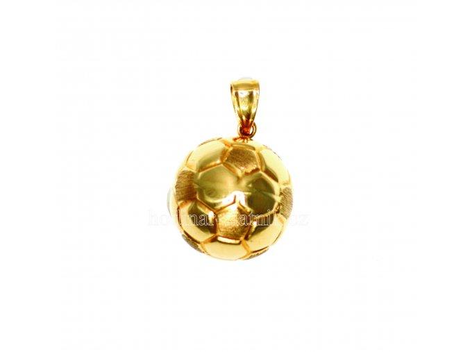 zlatý přívěšek fotbalový míč