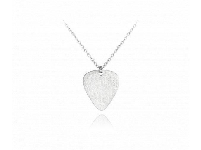 Matný stříbrný náhrdelník MINET TRSÁTKO