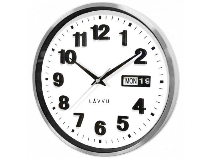Kovové hodiny s ukazatelem data LAVVU DATE METAL