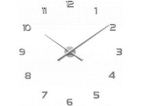 Stříbrné nalepovací hodiny LAVVU 3D STICKER Silver Numerals