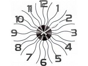 Černé antracitové hodiny LAVVU SUN