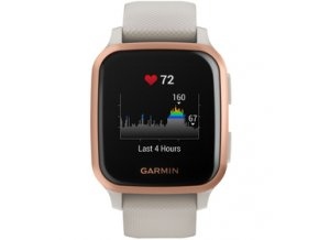 Venu Sq Music, RoseGold/Sand Band GARMIN