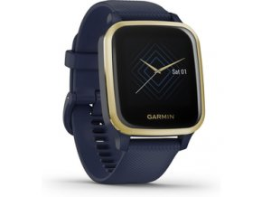 Venu Sq Music,LightGold/Blue Band GARMIN