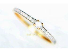 dámský prsten ze žlutého zlata ALV20200422131842144680R033
