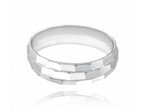 Broušený snubní stříbrný prsten MINET vel. 60