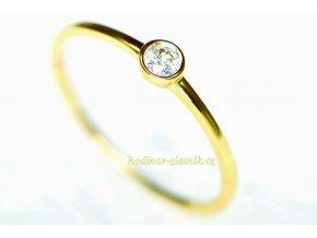 dámský prsten ze žlutého zlata ALV20200337SA
