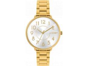 Zlaté dámské hodinky MINET PRAGUE Pure Gold