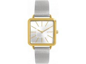 Stříbrno-zlaté dámské hodinky MINET OXFORD SILVER GOLD BICOLOR MESH