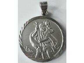 Stříbrný přívěšek svatý Kryštof 030740200002