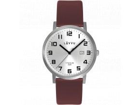 Extrémně lehké titanové hodinky LAVVU TITANIUM LYNGDAL Silver