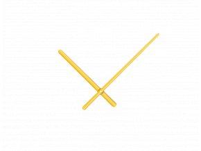 Zlaté oblé hliníkové ručičky na hodiny 158 mm   113 mm
