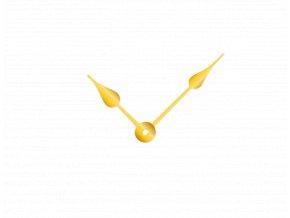 Zlaté klasické hliníkové ručičky na hodiny 73 mm   53 mm