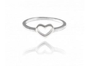 Stříbrný prsten se srdíčkem MINET LOVE vel. 53