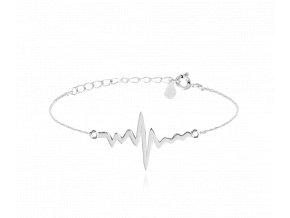 Stříbrný náramek MINET HEARTBEAT