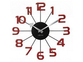 Černo-červené moderní hodiny LAVVU DESIGN Numerals