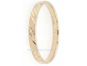 Snubní prsten ze žlutého zlata 22202056400