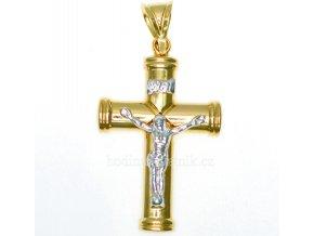 zlatý přívěsek křížek s Ježíšem