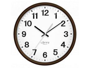 Tmavé dřevěné hodiny s plynulým chodem LAVVU ESSENTIAL WOOD