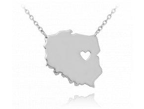 Stříbrný náhrdelník MINET POLSKO