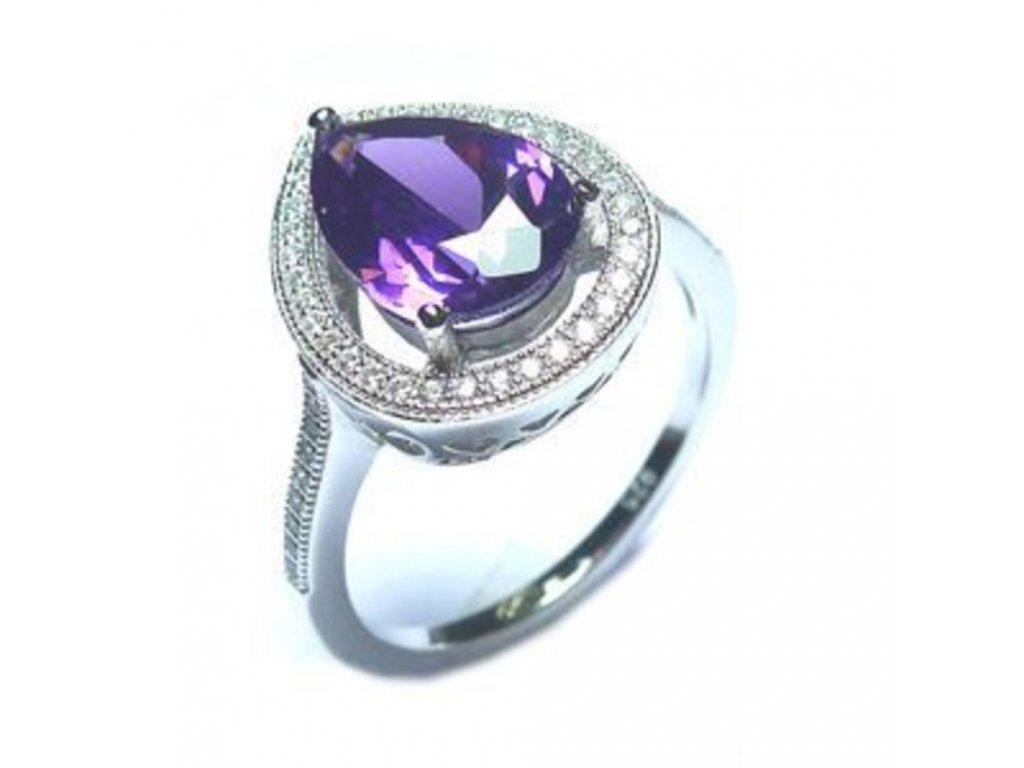 Stříbrný prsten JVD SVLSL60201C1F2