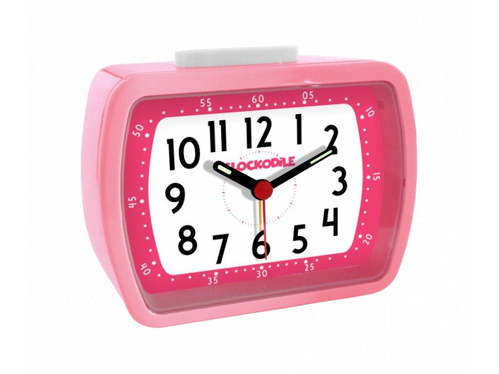 Růžový dětský budík CLOCKODILE WAKE UP! BELL