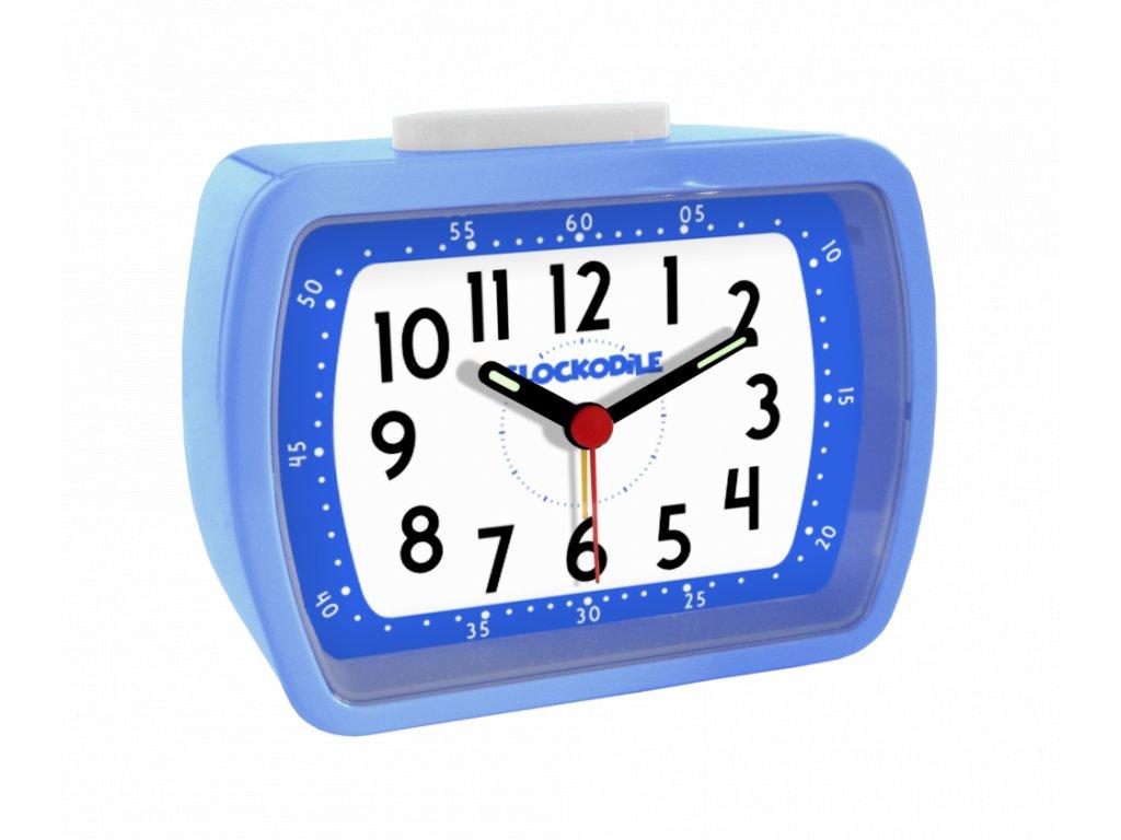 Modrý dětský budík CLOCKODILE WAKE UP! BELL