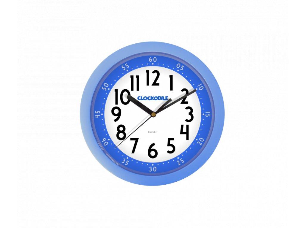 Modré dětské hodiny CLOCKODILE