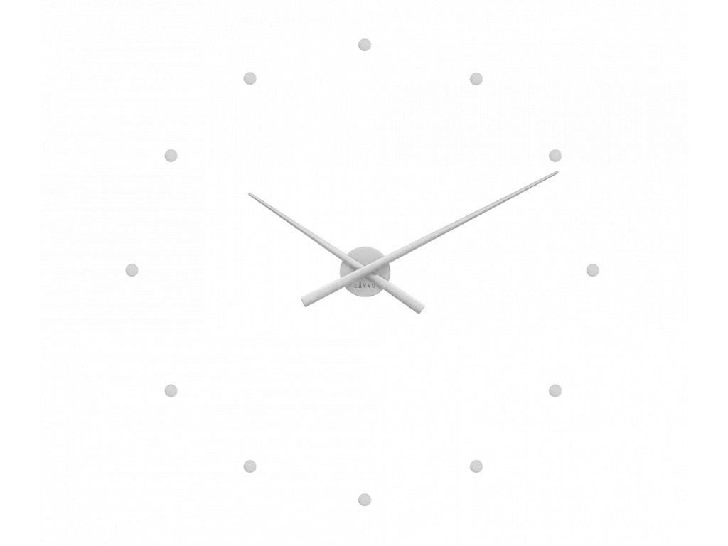 Stříbrné nalepovací hodiny LAVVU 3D STICKER Silver Dots