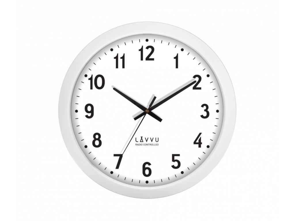 Velké bílé hodiny LAVVU řízené rádiovým signálem