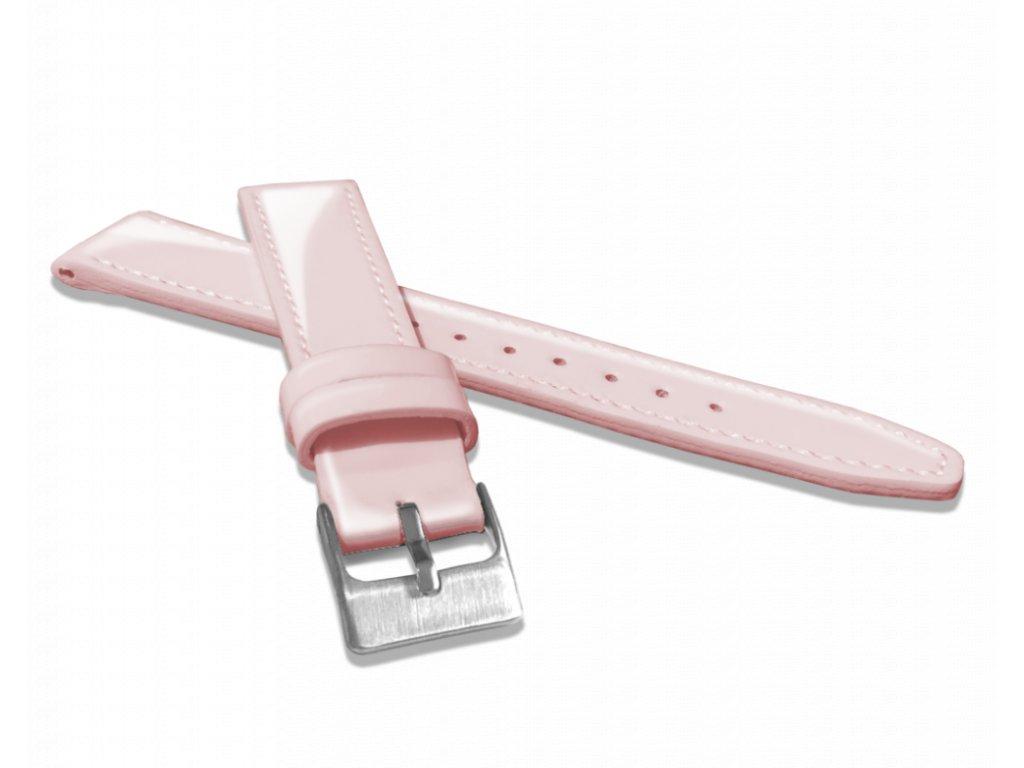 Světle růžový kožený řemínek s vysokým leskem MINET GLAMOUR - 16