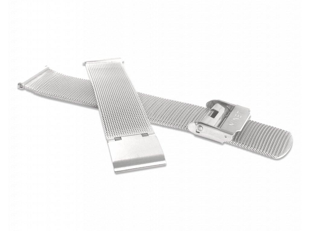 Stříbrný kovový tah MINET MESH Band Original Silver - 18
