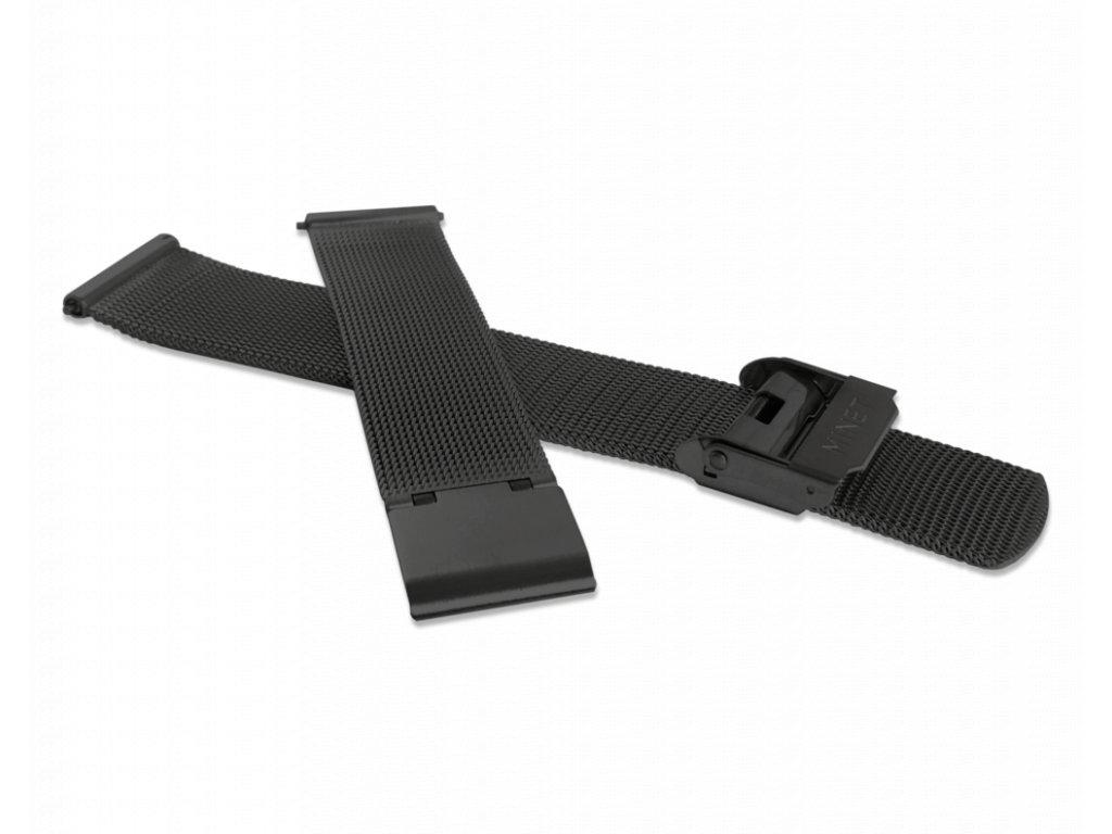 Černý kovový tah MINET MESH Band Original Black - 16