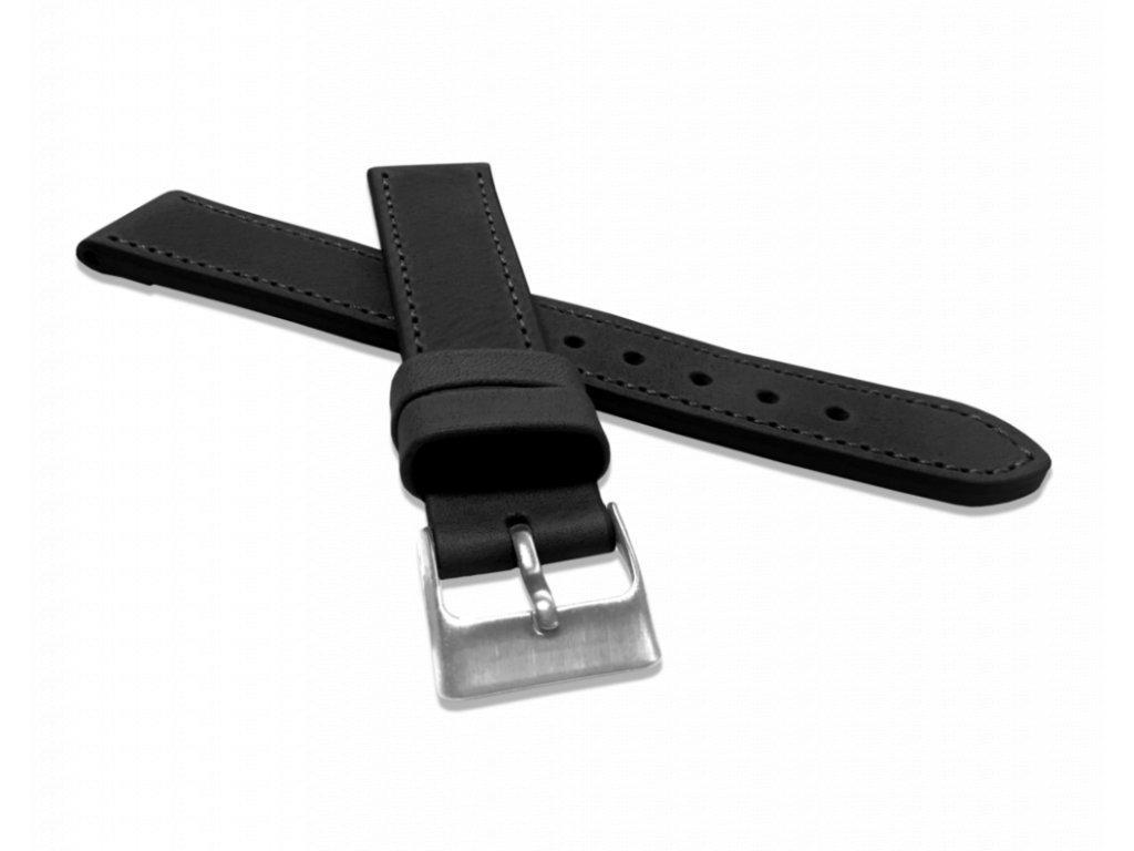 Černý prošitý řemínek LAVVU SPORT z luxusní kůže Top Grain - 18