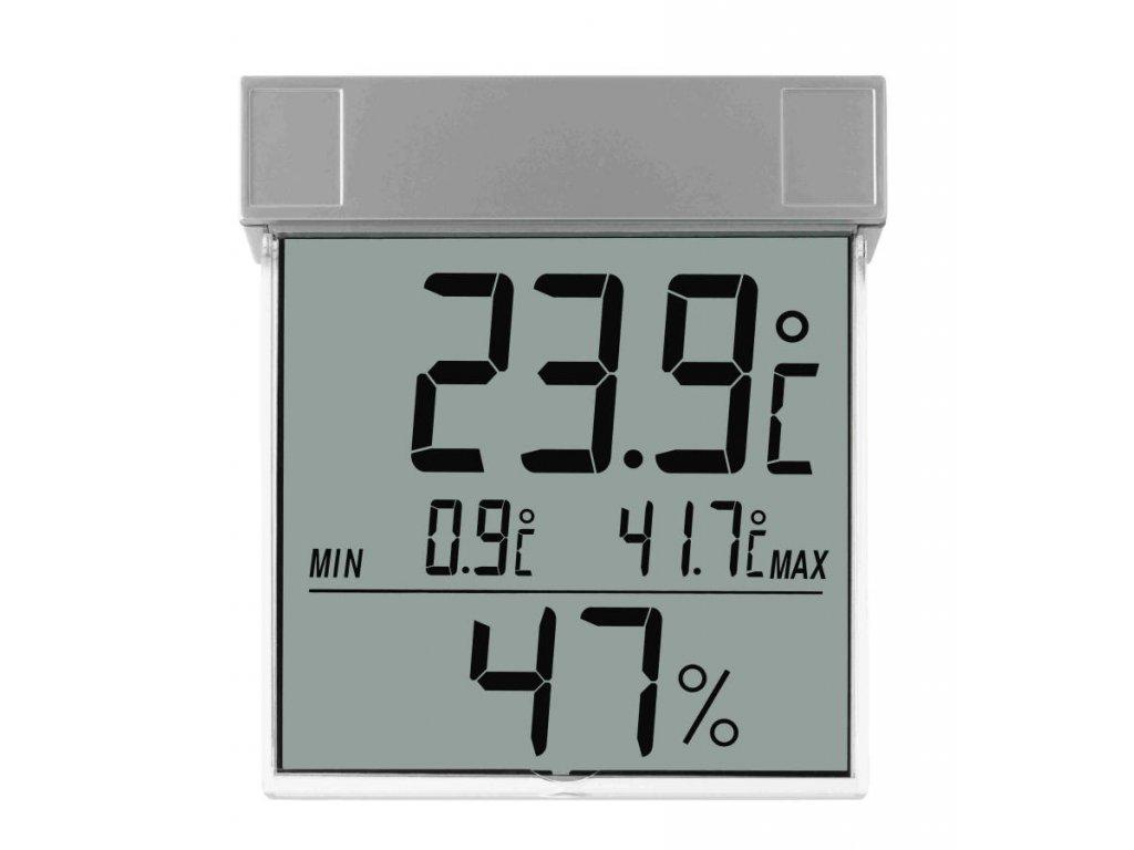 Venkovní digitální teploměr s vlhkoměrem na okno TFA 30.5020 VISION