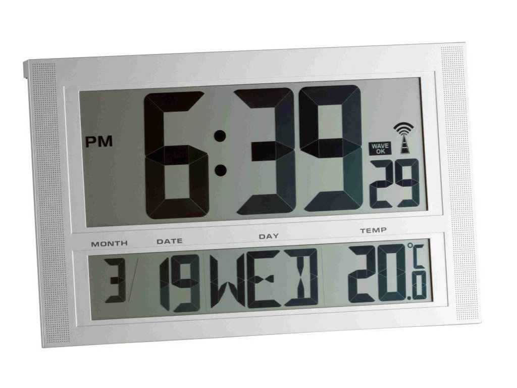 Rádiem řízené nástěnné hodiny TFA 98.1090