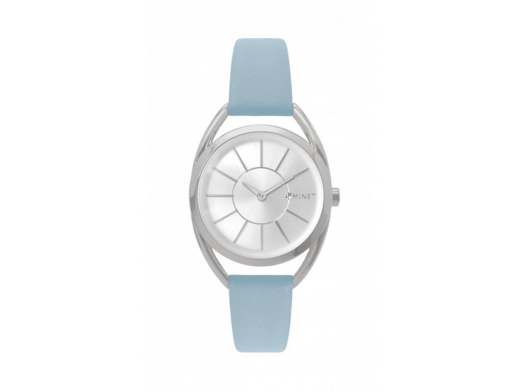 Pudrově modré dámské hodinky MINET ICON POWDER BLUE