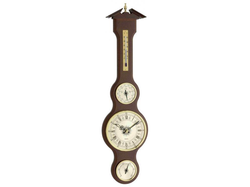 TFA 45.3004.04  - Meteostanice kaplička s teploměrem, vlhkoměrem, barometrem a hodinami