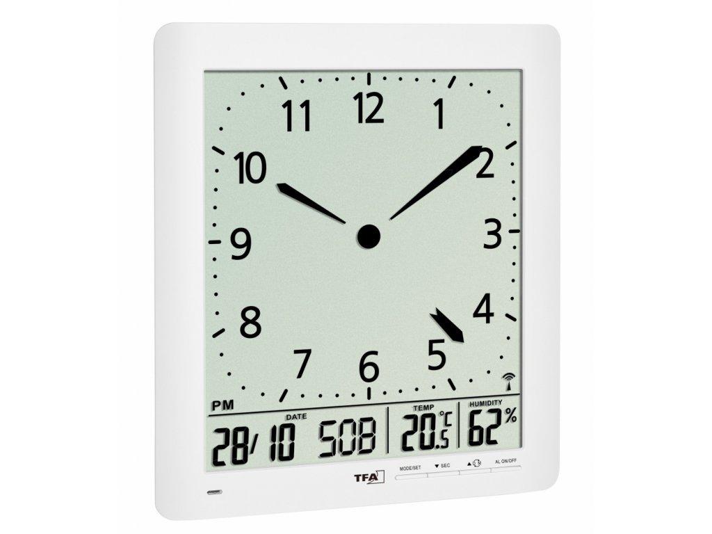 TFA 60.4515.02 - Nástěnné DCF hodiny s teploměrem a vlhkoměrem