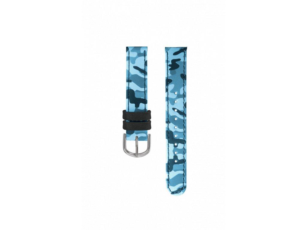 Modrý maskáčový řemínek k dětským hodinkám CLOCKODILE