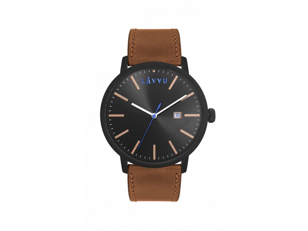 Hnědé pánské hodinky LAVVU COPENHAGEN WALNUT BROWN