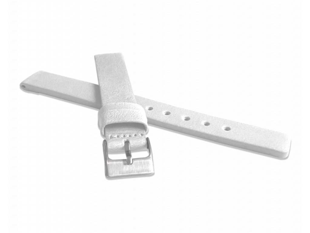 Bílý hladký řemínek LAVVU PLAIN z luxusní kůže Top Grain - 12