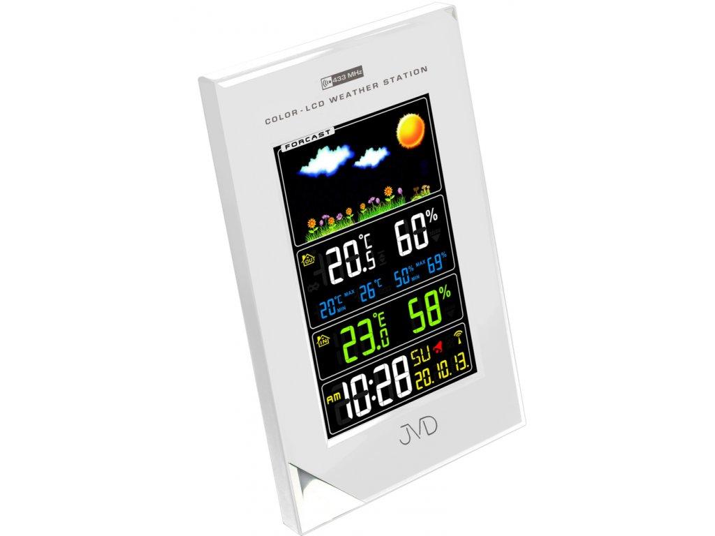 Rádiem řízená meteorologická stanice JVD stříbrná RB9202.2  nk