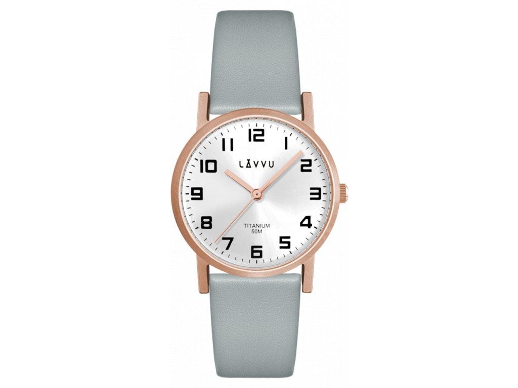 Rose gold dámské titanové hodinky LAVVU MANDAL