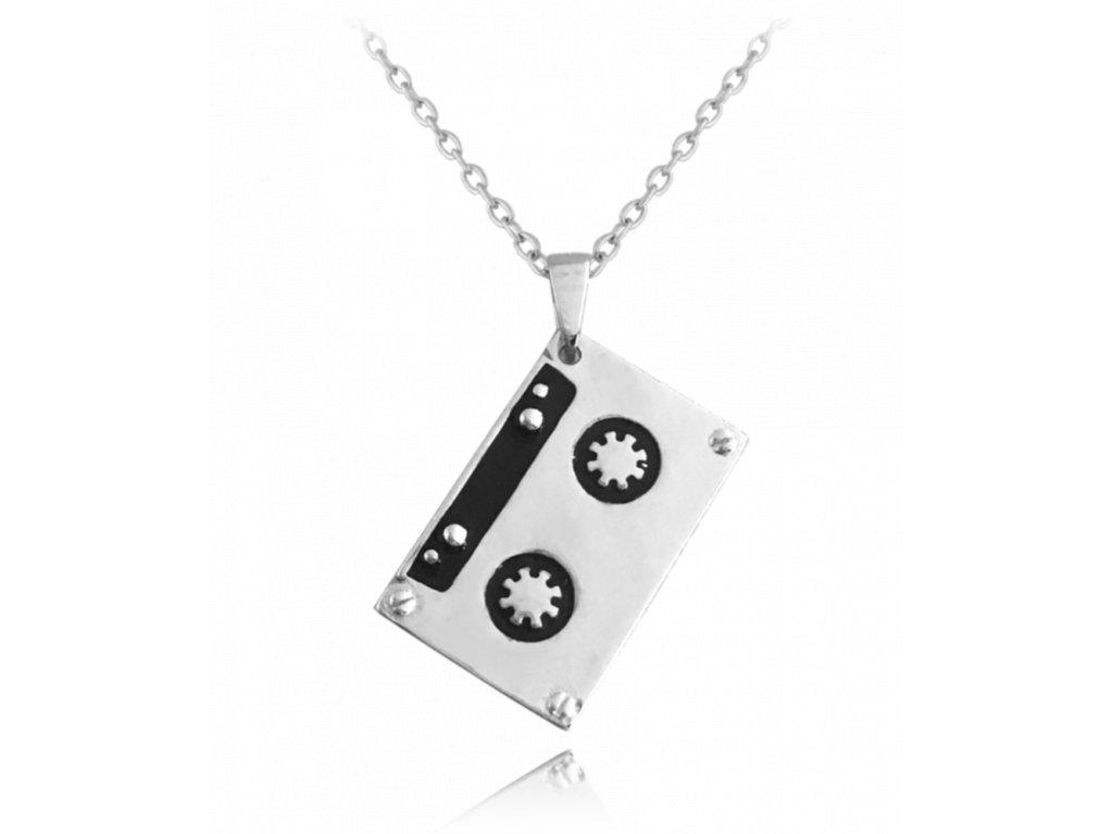 Retro stříbrný náhrdelník MINET KAZETA