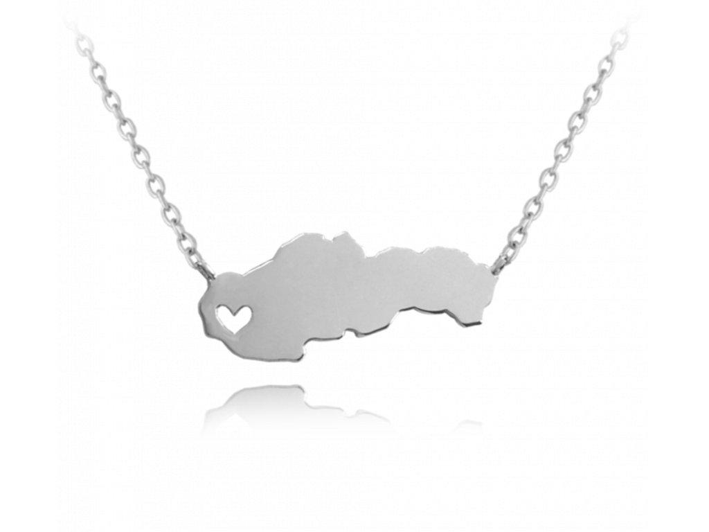 Stříbrný náhrdelník MINET SLOVENSKO